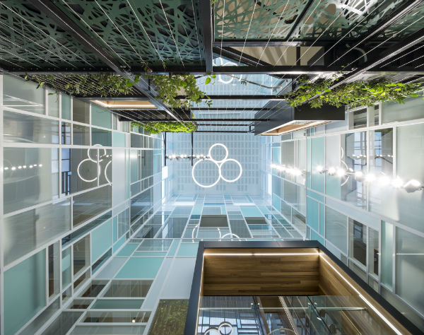 Bleak 1980s building transformed into bright, green office space