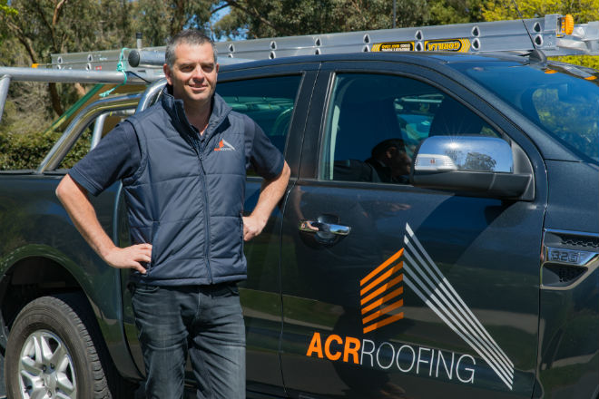 ACR Roofing director Christian Wright.