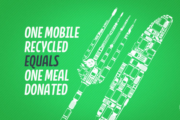 Turn your old mobile phone into a meal for the needy