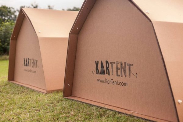 KarTent's cardboard tents are the answer to festival waste