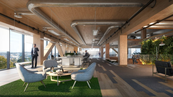 Construction begins on the tallest engineered timber office building
