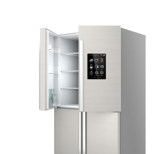 Smart refrigerator with LCD screen