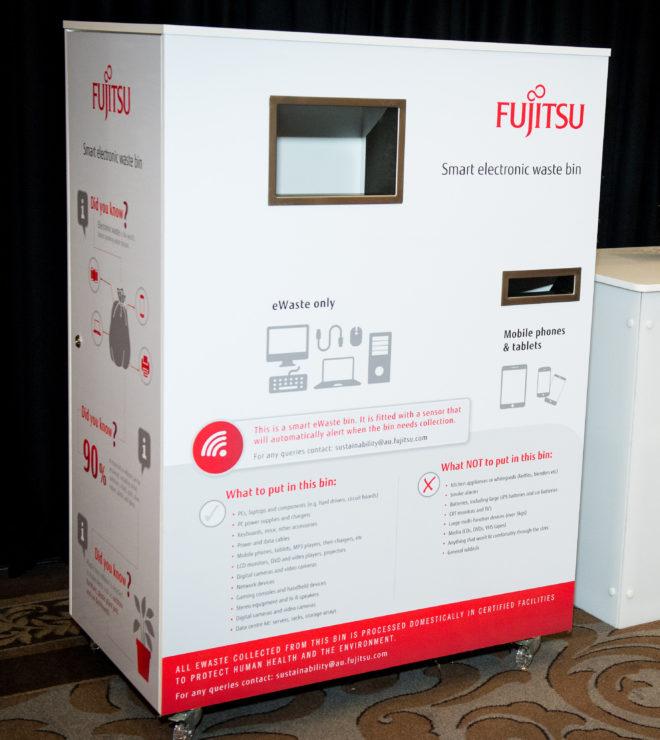 Fujitsu smart e-waste bin