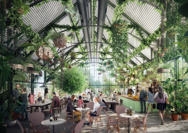 Burwood Brickworks rooftop restaurant, concept by Studio Magnified