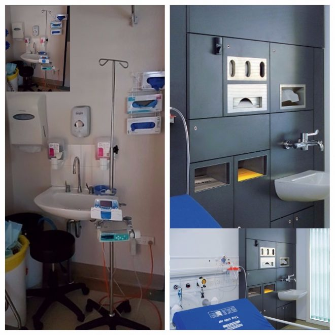 Dolphin Solutions, Ulster Hospital, before and after