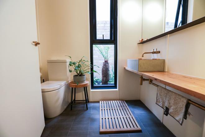 Nightingale 1 bathroom, featuring Caroma Cleanflush toilet