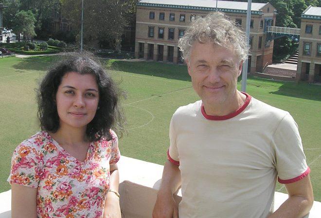 Dr Malik (L) and Professor Lenzen (R) at USYD