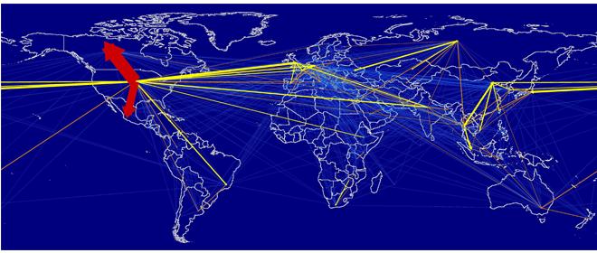 Global tourism carbon movements © University of Sydney