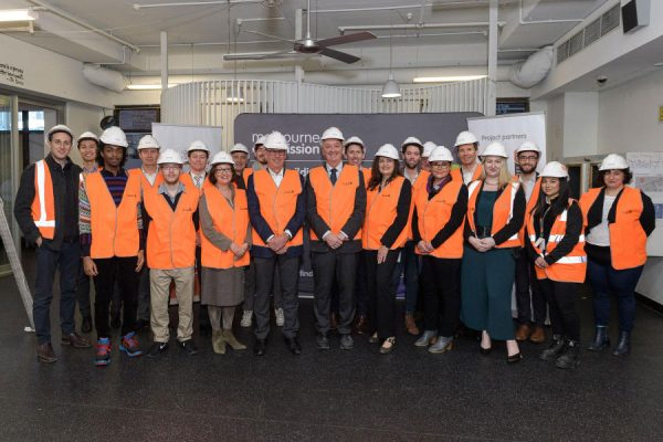 Victorian Minister for Housing Martin Foley was on-site at 19 King Street to mark the start of the $8 million construction project Image courtesy of Melbourne City Mission
