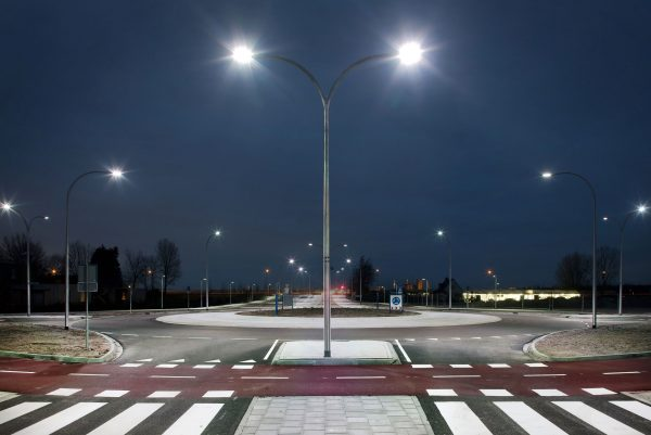 Smart LED street lighting upgrades within the community
