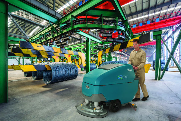 Tennant's new industrial-strength walk-behind scrubbers