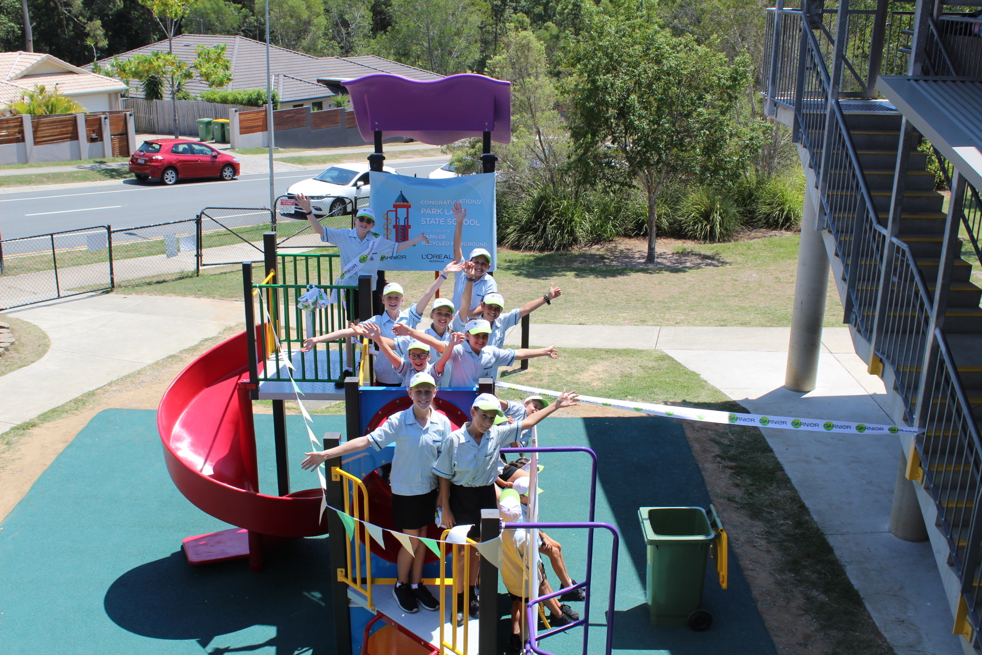 Recycled playground unveiled in Gold Coast school