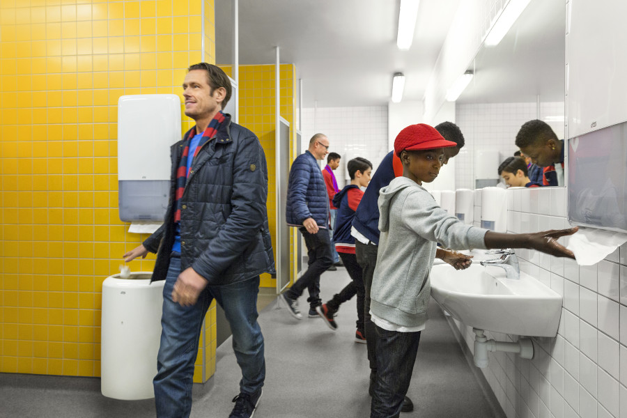 High-traffic washrooms now better equipped to handle large crowds