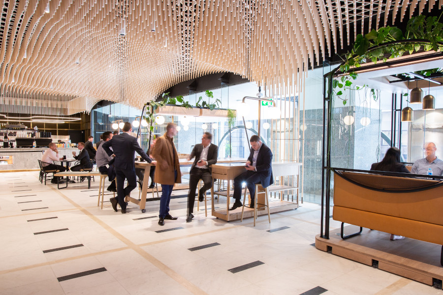 The transformed lobby of No.1 Martin Place.