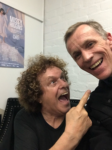 Chris Rogers (right) with Leo Sayer.