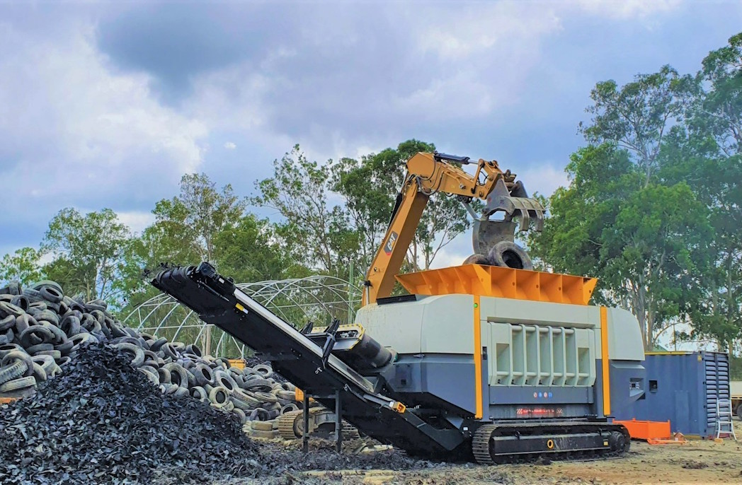 New waste shredder for Australian Tyre Processors