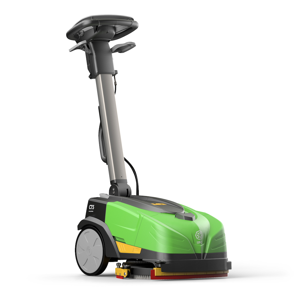 Drop the mop with IPC's CT5 Mini Walk-Behind Scrubber for small spaces